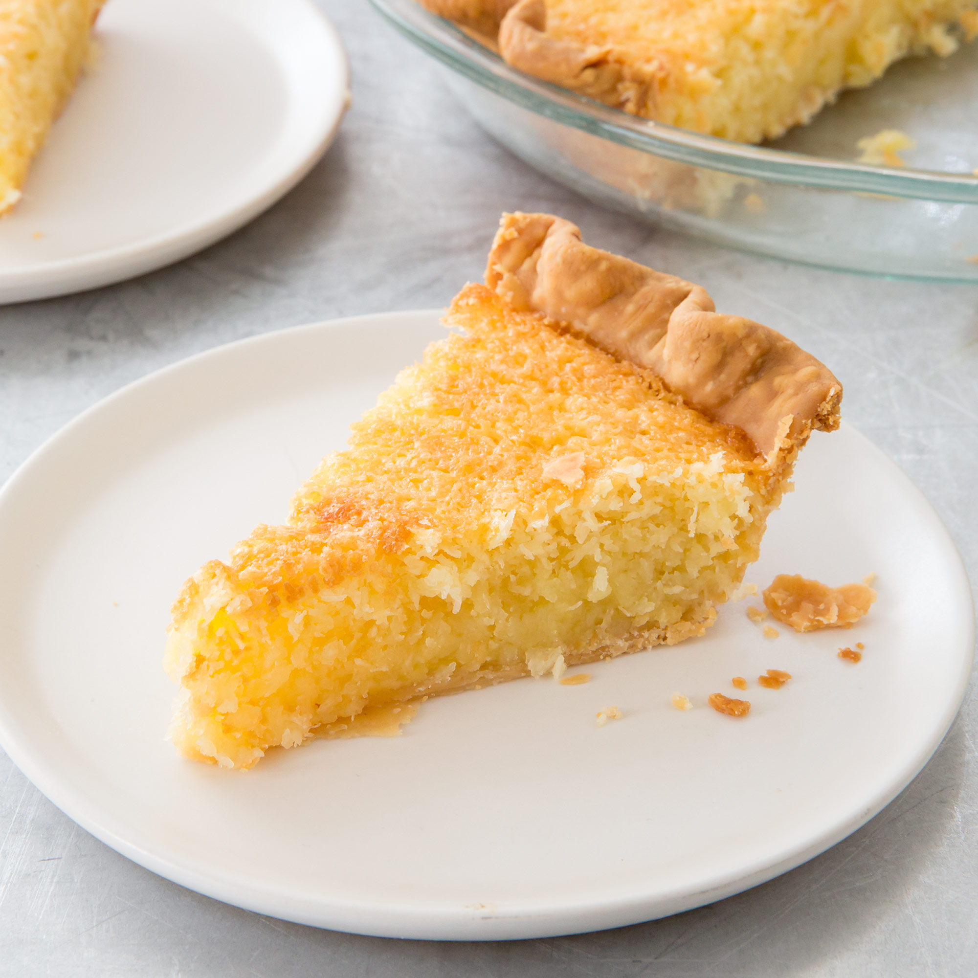 French Coconut Pie with Buttermilk