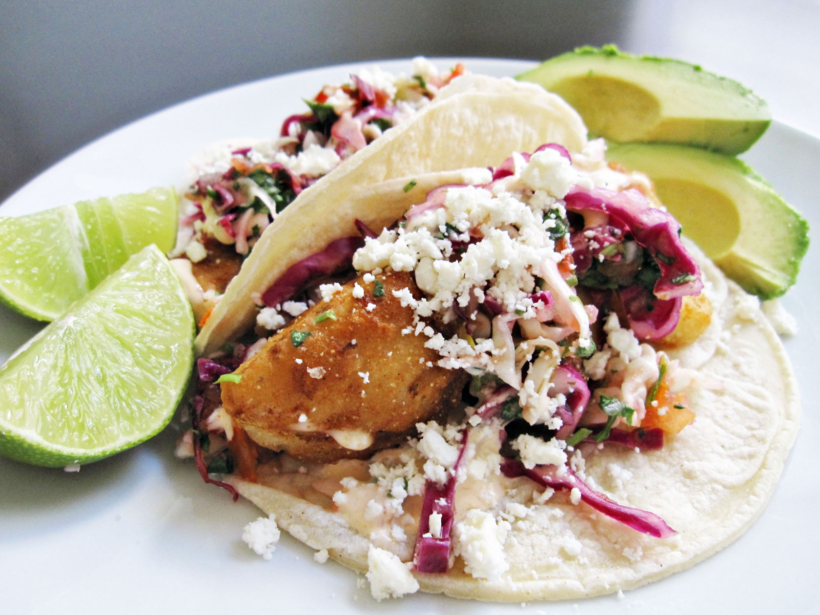 Grilled Fish Tacos with Cabbage Slaw