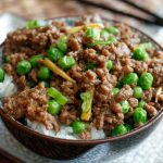 Korean beef with garlic