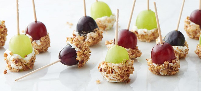 Caramel apple grapes with vanilla