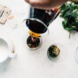 Mint mojito pourover coffee